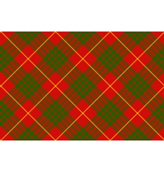 Clan cameron tartan diagonal seamless pattern vector