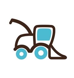 Combine harvester icon Farm vector image