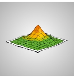 Concept of topographic map vector