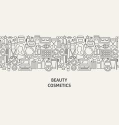 Cosmetics banner concept vector