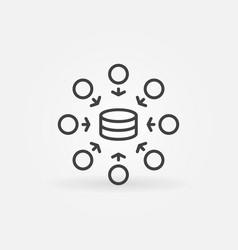 data mining technology line concept minimal vector image