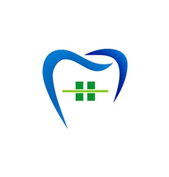 dentist care abstract logo vector image