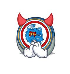 Devil dragonchain coin mascot cartoon vector