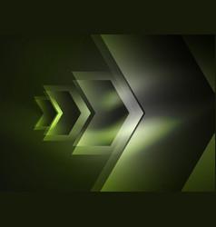 digital technology glowing arrows vector image