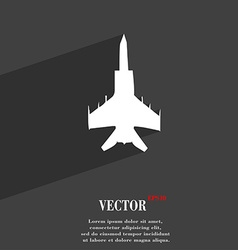 Fighter icon symbol Flat modern web design with vector