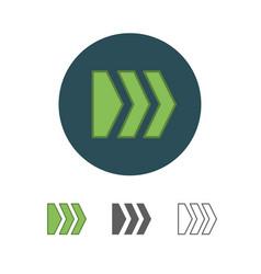 Flat arrow icon vector