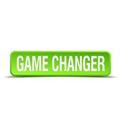 game changer green 3d realistic square isolated vector image