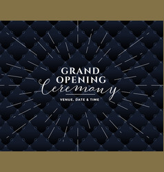 grand opening black banner design vector image