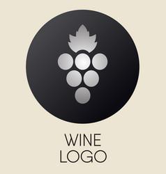 Grapes logo design element vector