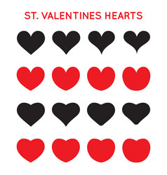 grungy hand draw hearts valentines day symbol vector image
