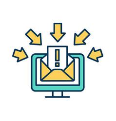 Hacking rgb color icon vector