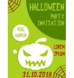 Halloween vertical background flyer or invitation vector