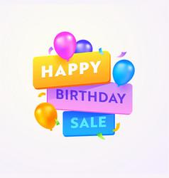 Happy birthday sale advertising banner vector