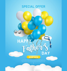 happy fathers day background or banner vector image