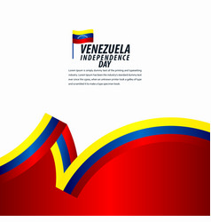 Happy venezuela independence day celebration vector