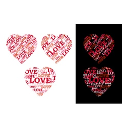 Heart made of lettering vector