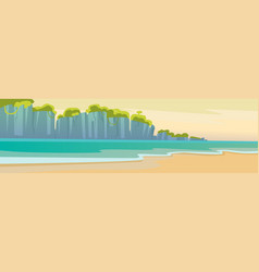 Hello summer beach vacation sand tropical seaside vector
