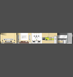 house interior section panorama vector image