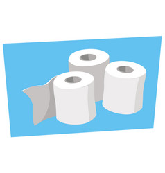 hygiene products rolls toilet paper vector image