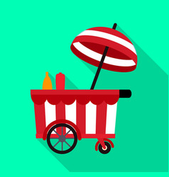 Kiosk and cart sign vector
