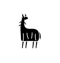 lama black icon sign on isolated vector image