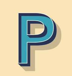 letter p retro text style fonts concept vector image