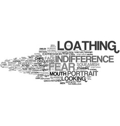 Loathing word cloud concept vector