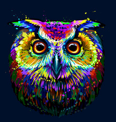 long-eared owl vector image