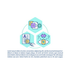 Media literacy concept icon with text vector