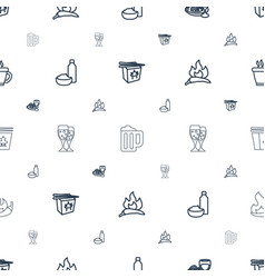 Menu icons pattern seamless white background vector