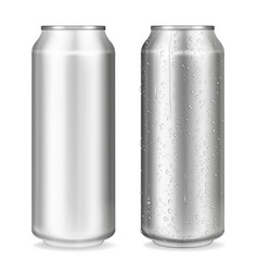 metal can container 3d vector image