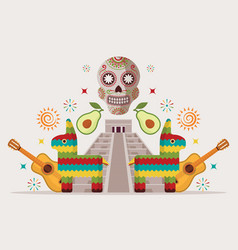 mexican style party invitation vector image