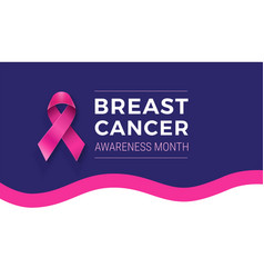 National breast cancer awareness month banner vector