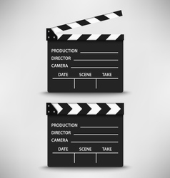 Open and closed movie flap template vector