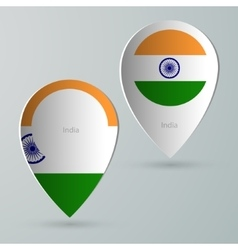 paper of map marker for maps india vector image