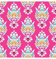 Pink Damask seamless pattern vector