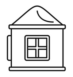 Plastic kid play house icon outline style vector
