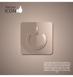 Power Button on the Background vector image