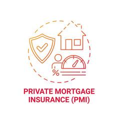Private mortgage insurance concept icon vector