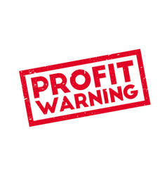 Profit warning rubber stamp vector