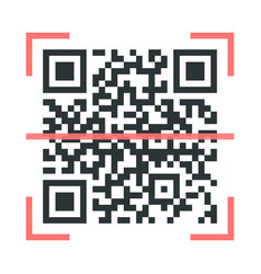 Qr code scanner icon sign simple design vector