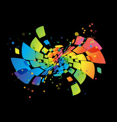 Rainbow background abstract multicolored design vector