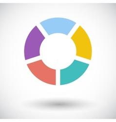 Round graph circular vector image