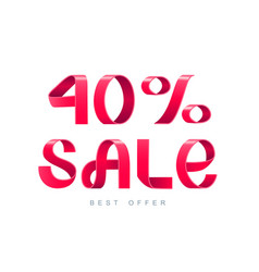 sale 40 percent off vector image