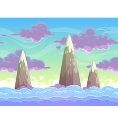 Seamless cartoon horizontal cloudscape vector