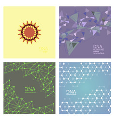 Set of abstract dna strand symbol isolated vector