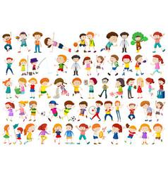 set of children character vector image