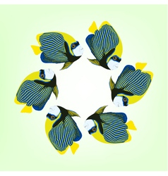 Six swimming fishes vector