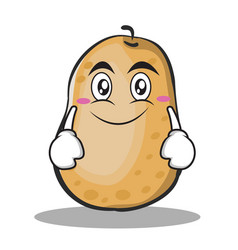 Smile potato character cartoon style vector