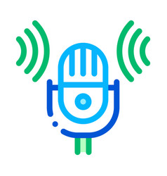 sound microphone voice control icon vector image